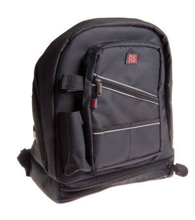 RS PRO Polyester Backpack with Shoulder Strap 340mm x 220mm x 410mm