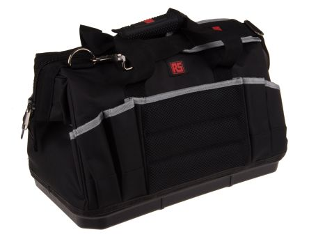 RS PRO Polyester Tool Bag with Shoulder Strap 430mm x 240mm x 250mm