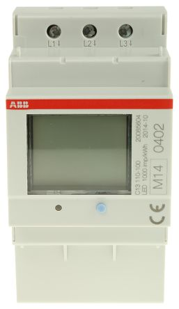 ABB C13 LCD Digital Power Meter, 6-Digits, 3 Phase , 1 % Accuracy