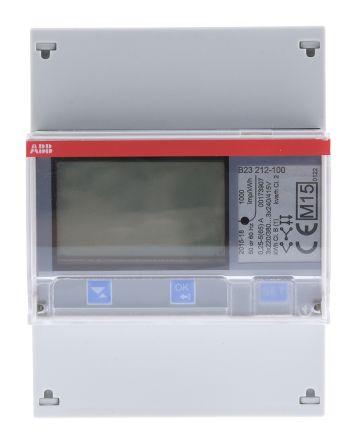ABB B23 LCD Digital Power Meter, 7-Digits, 3 Phase , 1 % Accuracy