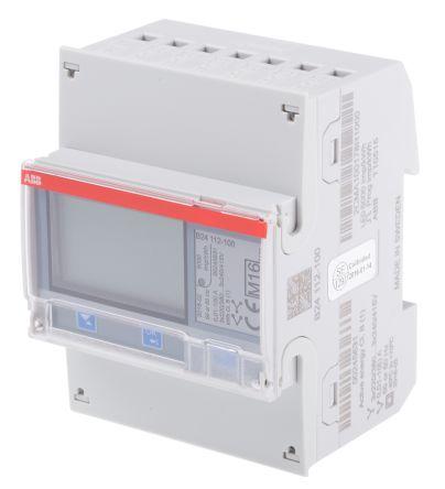 ABB B24 LCD Digital Power Meter, 7-Digits, 3 Phase , 1 % Accuracy