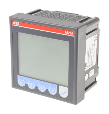 ABB M2M LCD Digital Power Meter, 1 Phase , ±0.5 % Accuracy