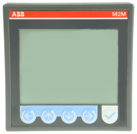 ABB M2M LCD Digital Power Meter, 3 Phase , ±0.5 % Accuracy