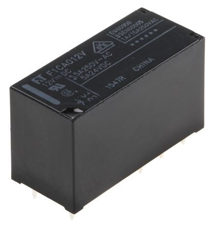 Fujitsu DPDT Non-Latching Relay PCB Mount, 12V dc Coil, 5A