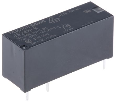 Fujitsu SPDT NonLatching Relay PCB Mount 24V Coil 8 A JS24NK