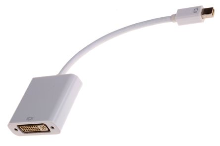 100mm Mini Display Port Male to Female DVI White KVM Mixed Cable Assembly product photo