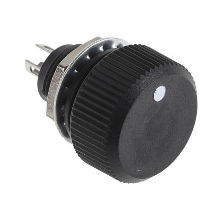 Vishay P16 Series Potentiometer With Knob, 10kΩ, ±20%, 1W, ±150ppm/°C, Panel Mount