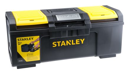 Stanley One Touch Plastic Tool Box 2 drawers  dimensions 600 x 255 x 280mm