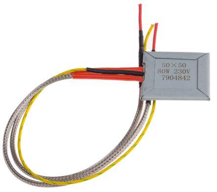 Flat Plate Mica Heater 80W 50x50mm