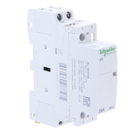 2 pole contactor wiring diagram hvac schneider electric 2 pole contactor 25 a  230 v ac coil  acti 9  2no  schneider electric 2 pole contactor