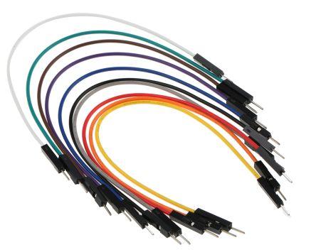 MIKROE-513, 10 piece Breadboard Jumper Wire Kit