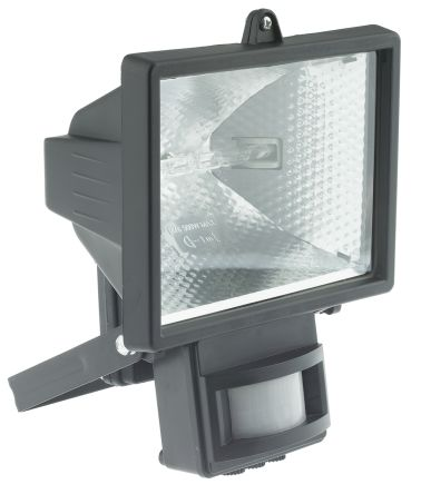 IP44 PIR switched halogen flood,500W