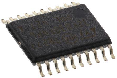 STMicroelectronics STM32F030F4P6, 32bit ARM Cortex M0 Microcontroller, STM32F, 48MHz, 16 kB Flash, 20-Pin TSSOP
