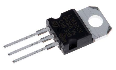 STMicroelectronics, 12 V Linear Voltage Regulator, 1.5A, 1-Channel 3-Pin, TO-220 L7812CV-DG