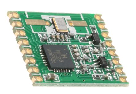 HopeRF RFM69HW-868-S2 RF Transceiver Module 868 MHz, 1.8 → 3.6V
