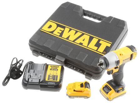 DeWALT 10.8V Cordless Impact Wrench, 3/8in, 2Ah Battery Capacity, UK Plug