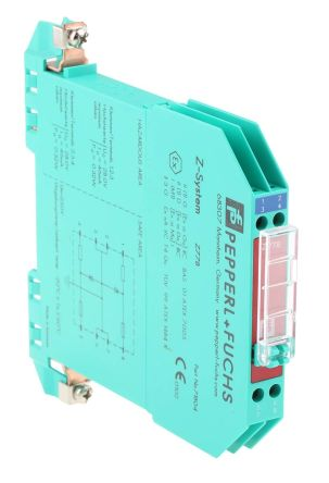 Pepperl + Fuchs 2 Channel Zener Barrier With Analogue Output, 250 V max, 46mA max