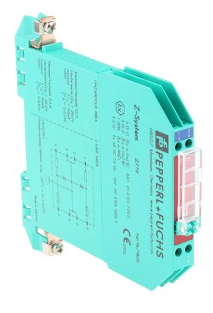 Pepperl + Fuchs 2 Channel Zener Barrier With Analogue Output, 250 V max, 93mA max