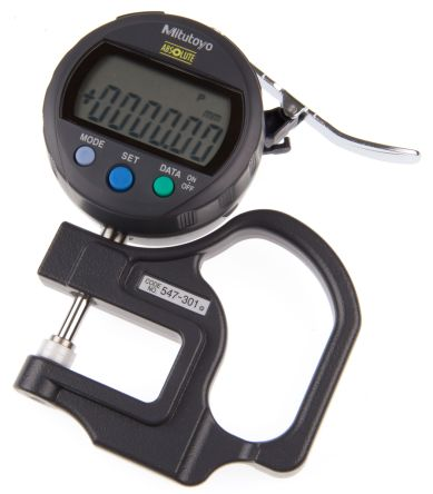 Mitutoyo 547 Thickness Gauge, 0mm - 10mm, ±20 μm Accuracy, 0.01 mm Resolution, LCD Display