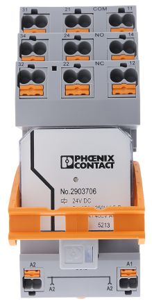 3P-NO Non-Latching Relay DIN Rail, 24V dc Coil, 10 A product photo