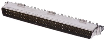 Amplimite .050 III Series, Male 100 Pin Straight Cable Mount SCSI Connector 1.27mm Pitch, Crimp product photo