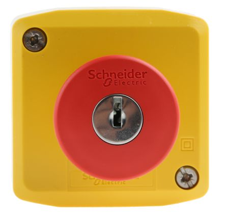 Schneider Electric Harmony, Yellow, Key Reset 40mm Mushroom Head Emergency  Button