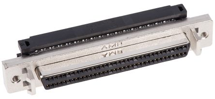 Amplimite .050 III Series, Female 68 Pin Straight Panel Mount SCSI Connector 1.27mm Pitch, Crimp product photo