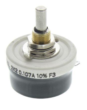 Vishay 25W Wirewound Rheostat, 2.2kΩ, ±10%