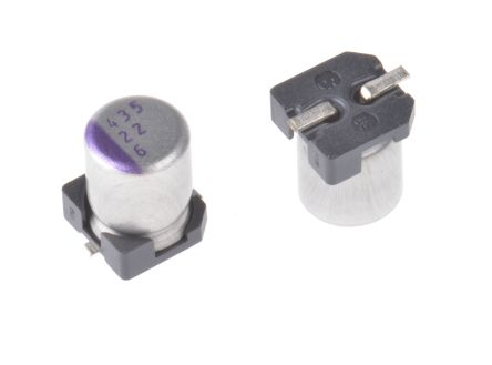 Panasonic 22μF Polymer Capacitor 6.3V dc Surface Mount - 6SVP22M