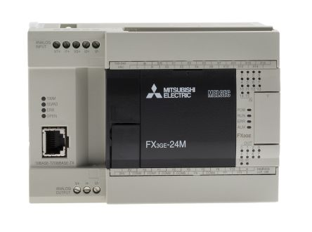 Mitsubishi FX3GE PLC CPU, ModBus Networking, 32000 Steps Program Capacity,  14 Inputs, 10 Outputs, 100 → 240 V ac