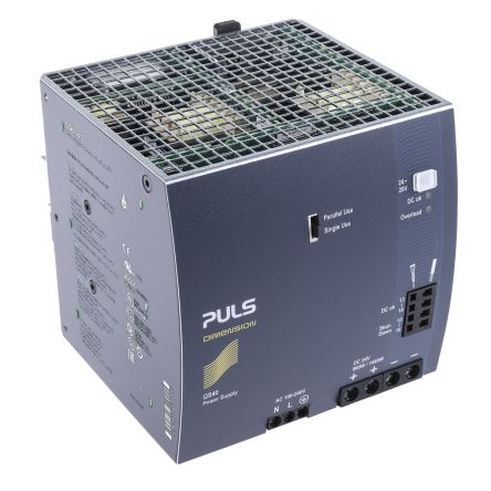 PULS, DIMENSION Q DIN Rail Power Supply, 24V dc Output Voltage, 40A output  current