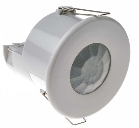 895mW Ceiling PIR Detector Absence Detector, Presence Detector, PIR, Ceiling Mount, 230 V ac, 76mm Diameter product photo