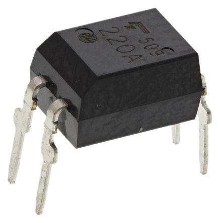 Toshiba, TLP220A AC Input MOSFET Output Optocoupler, Through Hole, 4-Pin DIP 100