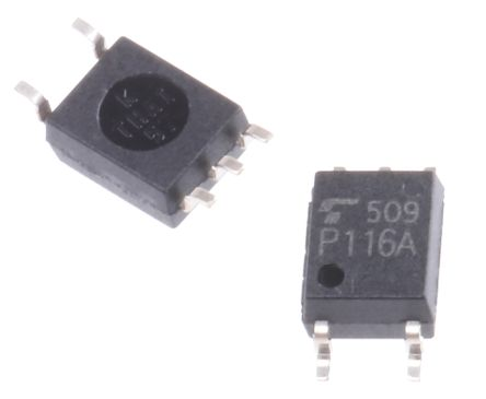 Toshiba, TLP116A DC Input Transistor Output Optocoupler, Surface Mount, 5-Pin SOIC 125