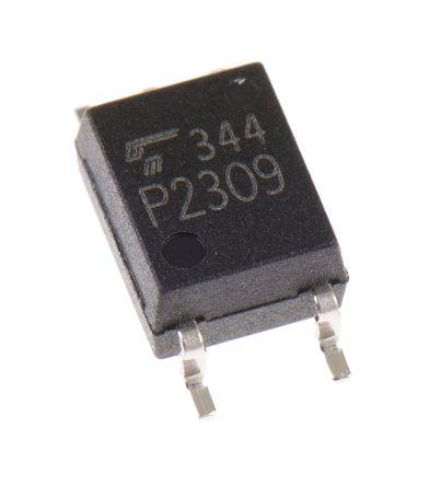 Toshiba Optokoppler, 20 mA AC Transistor Output, 3,75 kV eff SMD, SOIC 5-Pin 125, TLP2309