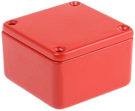CAMDENBOSS 5000, Die Cast Aluminium Enclosure, IP54, Shielded, 50 x 50 x 31mm Red