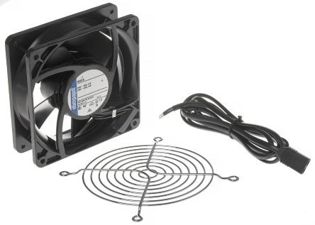 Fan Kit, ebm-papst, 4890N-KR0 AC 80m³/h 1550rpm 4890N Axial Fan, LZ120/1.5 Fan Lead, LZ30K Fan Guard 11W 230 V ac