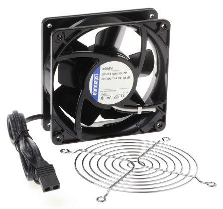 Fan Kit, ebm-papst, 4656N-KR0 AC 160m³/h 2650rpm 4656N Axial Fan, LZ120/1.5 Fan Lead, LZ30K Fan Guard 19W 230 V ac