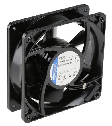 Fan Kit, ebm-papst, 4650N-KR0 AC 160m³/h 2650rpm 4650N Axial Fan, LZ120/1.5 Fan Lead, LZ30K Fan Guard 19W 230 V ac