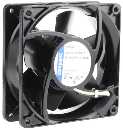 Fan Kit, ebm-papst, 4656N-KR1 AC 160m³/h 2650rpm 4656N Axial Fan, LZ120/1.5 Fan Lead, PMFA120T Fan Filter 19W 230 V ac