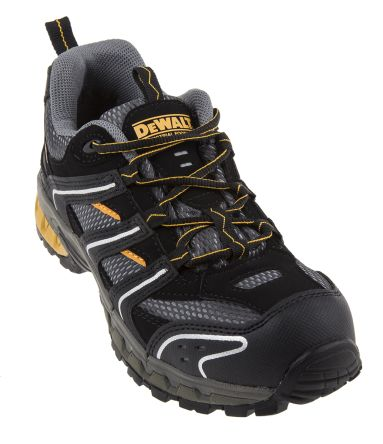 7a28f39d322 DeWALT Cutter Steel Toe Safety Trainers, UK 7, Resistant To Chemical, Oil,  Penetration, Petrol, Water, US 8 No