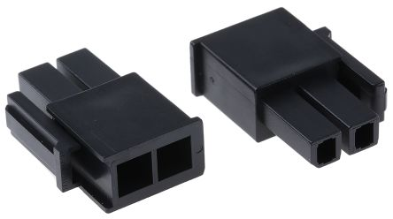 Molex Mega-Fit Male Connector Housing, 5.7mm Pitch, 2 Way, 2 Row