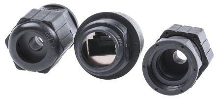 Amphenol Female Cable Mount IP67 RJ45 Connector, Diameter 31mm