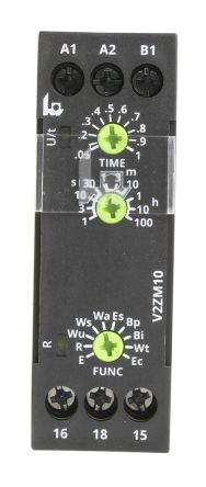 Tele Interval Multi Function Timer Relay, Screw, 0.05 → 1 s, 0.15 → 3 s, 0.5 → 10 h, 0.5 →