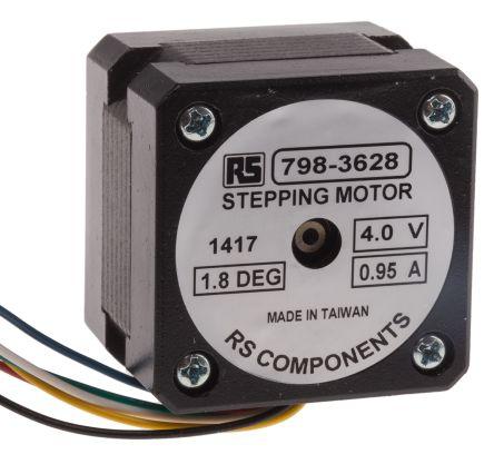 rs pro unipolar bipolar, unipolar stepper motor 1 8°, 0 16nm, 4 v dcUnipolar 4 Phase Stepper Motor Controller #21