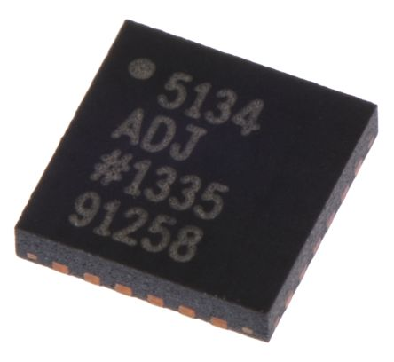 Analog Devices, ADP5134ACPZ-R7 Step-Down Switching Regulator Quad 300mA Adjustable, 0.8 → 5.2 V 24-Pin, LFCSP
