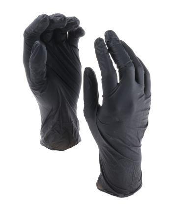 Black Nitrile Gloves size 7.5 - M Powder-Free x 100 product photo