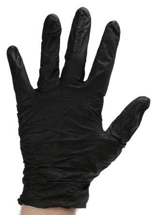 Black Nitrile Gloves size 8.5 - L Powder-Free x 100 product photo