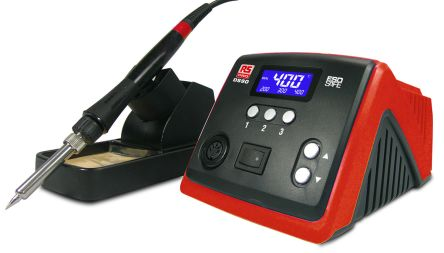 RS PRO AT90DH, Soldering Station, 220V, +100°C to +500°C