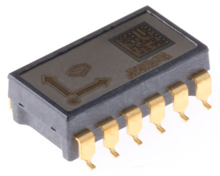 SCA100T-D02-004 Murata, Inclinometer Sensor 2-Axis SPI 4.75 → 5.25 V, 12-Pin SMD